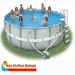 18x52 Round Ultra Frame Above Ground Swimming Pool Package 54957EG