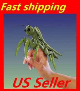 FOLKMANIS Finger Puppet Cute Mini Praying Mantis PUPPET Soft Plush 7