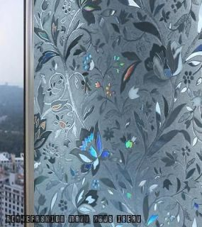 Resistant plastic static film glass art window stickers frosted