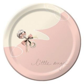 Little Angel 6 3/4 plates Great For a Girl Baby Shower