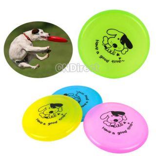 Fashion Pet Dog Plastic Training Flying Saucer Frisbee Dish Plate
