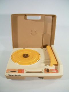 Vintage 1978 Fisher Price Record Player FOR PARTS Makes Noise When On