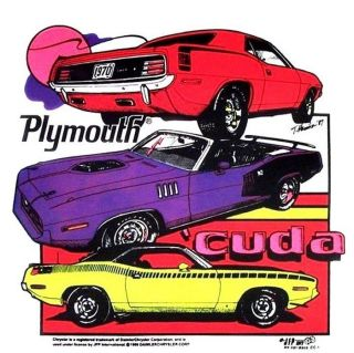 1970 PLYMOUTH CUDA BARRACUDA AAR SHAKER HEMI T SHIRT OR TANK TOP CC1