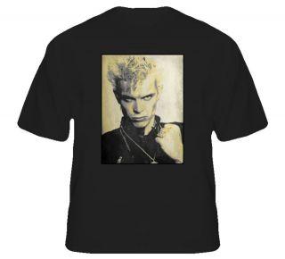 Billy Idol rock star punk 80s retro music t shirt
