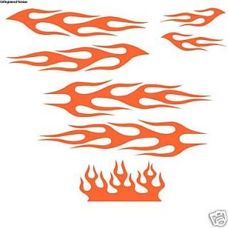 Custom Bicycle Red Flames Decal Kit Bike Sticker Helmet Huffy BMX