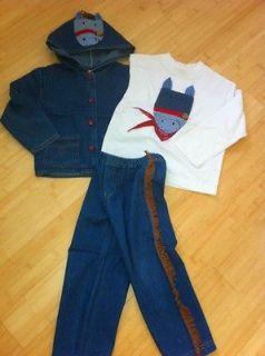 sweet potatoes, boys , 4,cowboy,set,top , jacket , pants, LKN