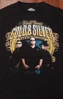 Gold & Silver Pawn Shop Owners Print Las Vegas Mens Black Small