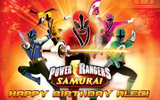 POWER RANGERS SAMURAI Edible image frosting cake topper decoration