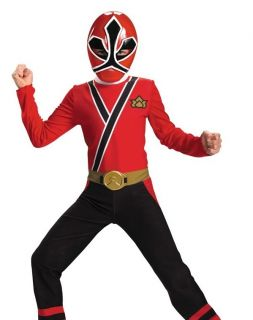 Boys Power Rangers Red Samurai Kids Halloween Costume