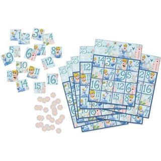 Cinderella Princess Party Supplies Bingo Game   1 Each