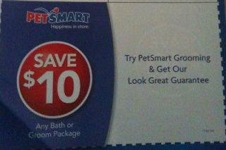 Petsmart Coupons $10 OFF Each for Grooming lot #12