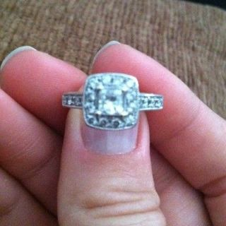 Newly listed Antique lookin​g Princess Cut Engagement Ring