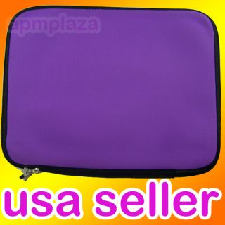 Purple 15 Netbook Laptop Neoprene Sleeve Case Bag Pouch Macbook Pro