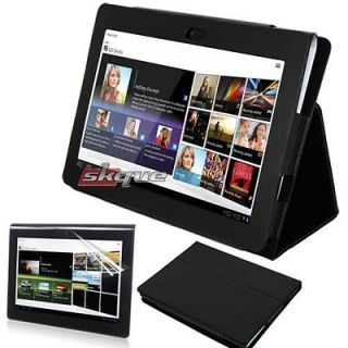 Case Cover Stand+LCD Film Screen Protector For Sony Tablet S S1