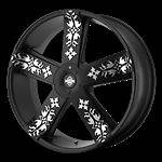 22 Inch Black Rims Wheels Chrysler 300 Dodge Charger Magnum AWD 5x1115