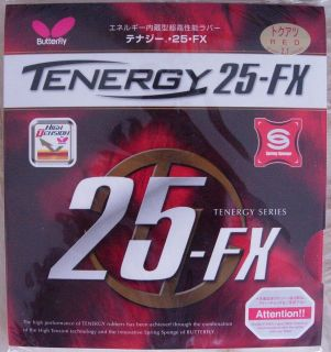 Butterfly TENERGY 25 FX PIPS IN TABLE TENNIS RUBBER NEW