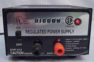 Vicon DC Regulated Power Supply 13.8V Fixed 3A Model DVP 312