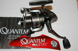 quantum aztec 30 fishing reel spinning 10 bearings bass trout pike