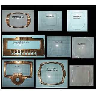 Antique Radio Dial Covers Makers M Z Motorola Philco Silvertone