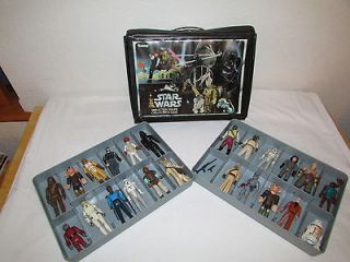 Vintage 1970s Star Wars Action Figures with Original Collectors Case