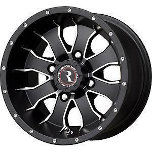 New 12X7 4x156 RACELINE ATV Black Wheels/Rims