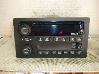 02 03 Chevrolet Gmc Envoy Trailblazer Am FM Radio Cd Player 15195521