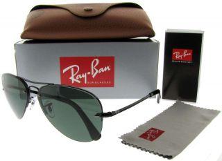RAY BAN RB 3449 002/71 BLACK RB3449 AVIATOR SUNGLASSES