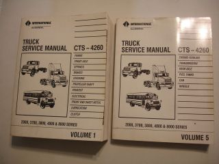 2000 3700 3800 4000 8000 Series Truck Service Shop Manual CTS 4260