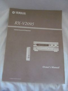 THE ORIGINAL YAMAHA NATURAL SOUND AV RECEIVER RX V2095 OWNERS SERVICE