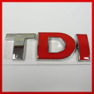 Red] Volkswagen VW TDI Trunk Lid Fender Emblem Badge Sticker Logo