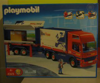 o Trans Semi Truck Big Rig + Trailer 4323 City RC Retired  NEW
