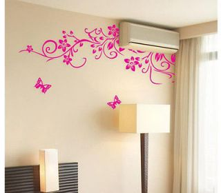 Butterfly Removable Wall Sticker Home Decor Art Decal Pink 90*60