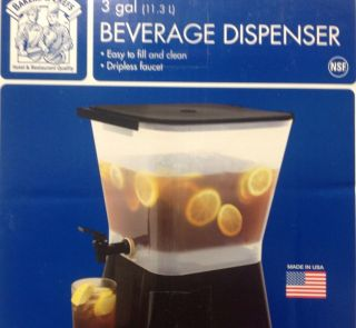 RESTAURANT COLD BEVERAGE DRINK DISPENSER / 3 GALLON