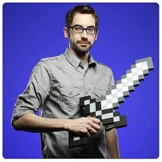 Minecraft Foam Pixel Sword Prop Replica Think Geek Gift Idea for Nerd