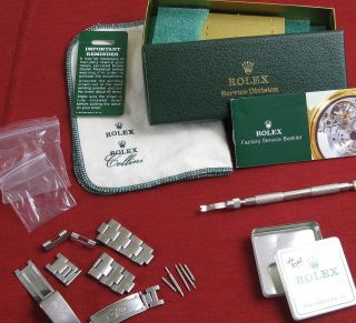 Newly listed Rolex Parts Service Box Cloth Oyster Bracelet Clasp Links