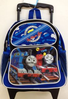12 in THOMAS THE TRAIN TANK Rolling Backpack TODDLER KIDS LUGGAGE