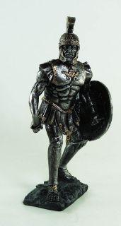 ROMAN WARRIOR HOPLITE SWORD STATUE BATTLE POSE FIGURINE 6.5 TALL