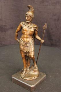 Roman Warrior Legion Soldier Greek War Hoplite Bronze Statue Ancient