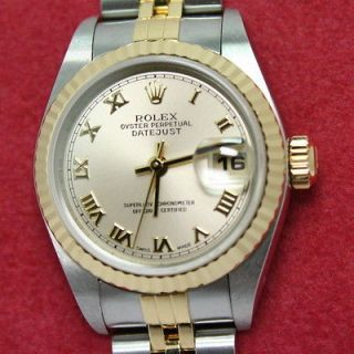 Ladies ROLEX 79173 DATEJUST (2 Tone) Watch ~ 18k Gold & Steel Oyster