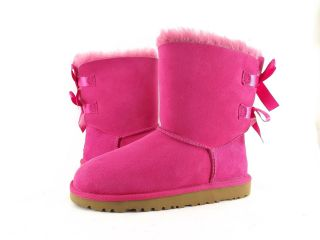 Shoes   UGG AUSTRALIA   KIDS BAILEY BOW DOUBLE RIBBON BOOTS CERISE