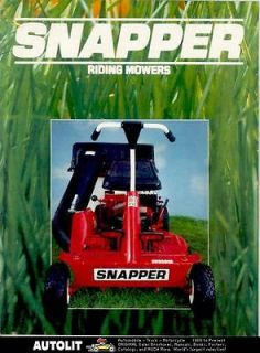 1983 ? Snapper Riding Lawn Mower Brochure