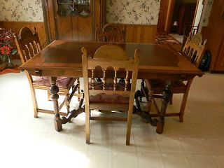 Antique Dining Room Table Lifetime Furniture Grand Rapids Bookcase