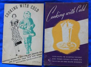 Lot of 2 Vintage Rollator Refrigerator Booklets, Recipe