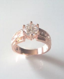 Rose Gold Plated Amazing CZ Ring Cubic Zirconia Ring size 7 and 8