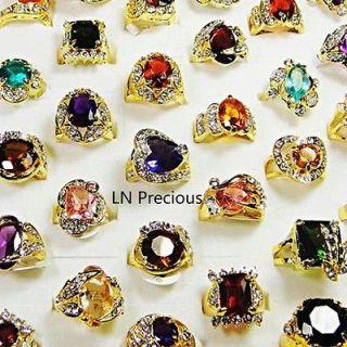 jewelry 5pcs nice Rhinestone Cubic Zirconia Gold rings