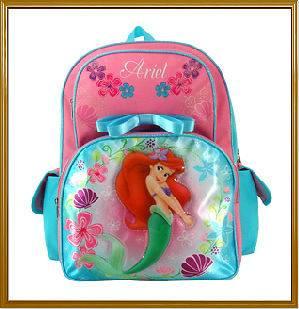 """Disney Little Mermaid ARIEL –16"""" Backpack/School Bags/Girls/Kid"""