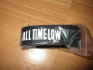 All Time Low Black Rubber Bracelet Wristband (Brand New) Warped Tour