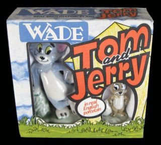 TOM AND JERRY   ENGLISH PORCELAIN FIGURINES   BOXED   1973   MGM