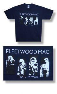 New Fleetwood Mac Hi Contrast Group 2003 Tour Large T shirt