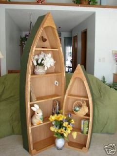 Ft Canoe Row Boat Bookshelf Book Case Shelves Nautical Handcrafted